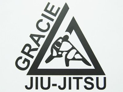 Photo1: Gracie Jiu-Jitsu Sticker Triangle L