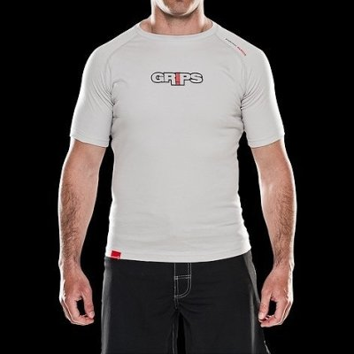 Photo1: Grips Tshirts Grey