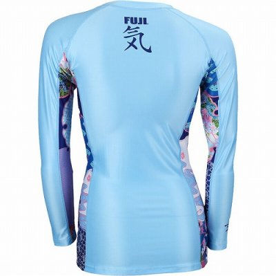 Photo2: Fuji Sports Ladies Rashguard Kimono Long Sleeve Water