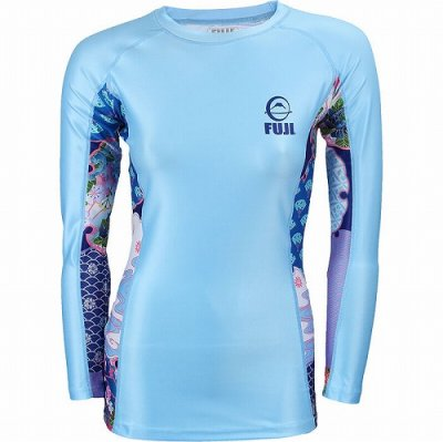 Photo1: Fuji Sports Ladies Rashguard Kimono Long Sleeve Water