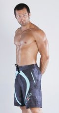 Grips board shorts MIURA Line Black / Mint