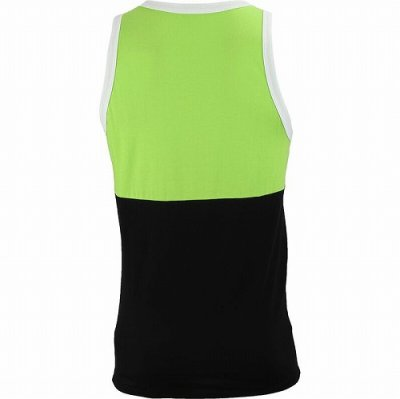 Photo2: Muscle Pharm Tank Top Stacked  Green/Black