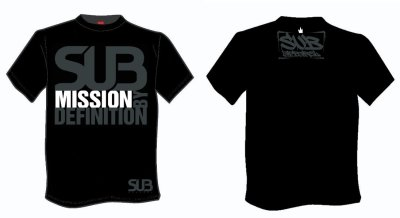 Photo1: SUB APPAREL T-shirt Submission by Definition Black
