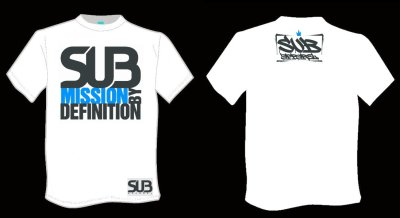 Photo1: SUB APPAREL T-shirt Submission by Definition White