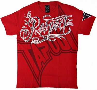 Photo2: TAPOUT Tshirts Respect UP Red
