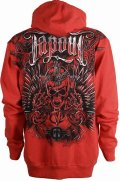 TAPOUT Zip Hoodie Struck red