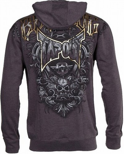 Photo1: TAPOUT Zipped Hoodie Agent Shield Charcoal
