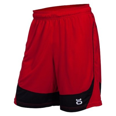 Photo1: JACO Training Shorts Twisted Mock Mesh  Red/Black