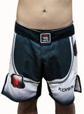 KORAL Combat Shorts UPPER Black/White