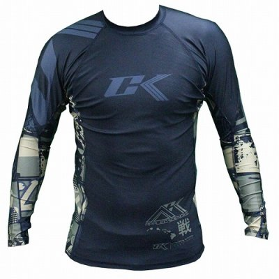 Photo1: Contract killer Rashguard Long SleeveCollage Camo
