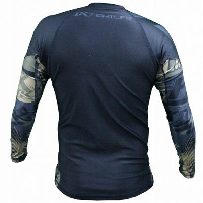 Photo2: Contract killer Rashguard Long SleeveCollage Camo