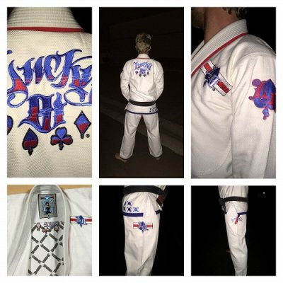 Photo1: LUCKY GI Jiu Jitsu Gis  Dog Fighter White
