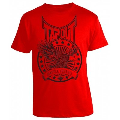 Photo1: TAPOUT T-shirt Battle Red