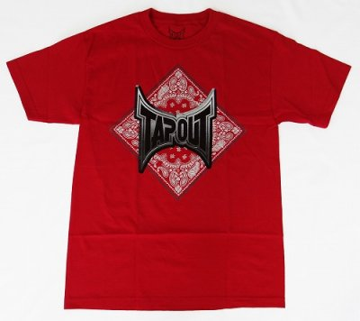 Photo1: TAPOUT T-Shirt Bandana REd