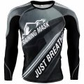 TRAINIG MASK Just Breathe? Grey Long Sleeve Compression Shirt  SALE