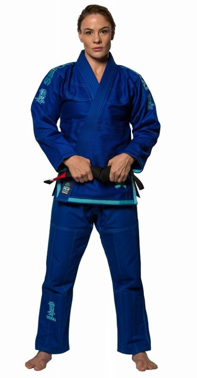 Photo1: Fuji Sports Ladies Jiu-jitsu Gi Sekai Women's Blue