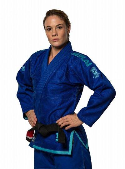 Photo3: Fuji Sports Ladies Jiu-jitsu Gi Sekai Women's Blue