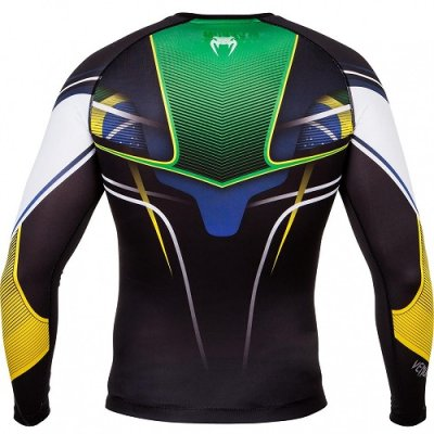 Photo4: VENUM Rashguard Brazilian Hero Long Sleeve Black/Yellow/Green/