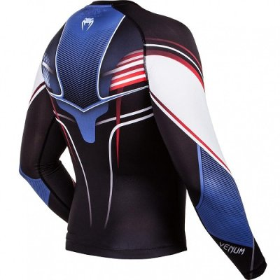 Photo3: VENUM Rashguard USA Hero Long Sleeve Black/Blue/Red