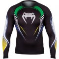 VENUM Rashguard Brazilian Hero Long Sleeve Black/Yellow/Green/