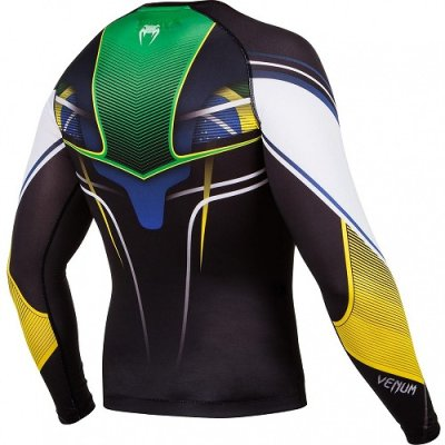 Photo3: VENUM Rashguard Brazilian Hero Long Sleeve Black/Yellow/Green/