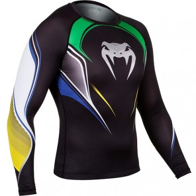 Photo2: VENUM Rashguard Brazilian Hero Long Sleeve Black/Yellow/Green/