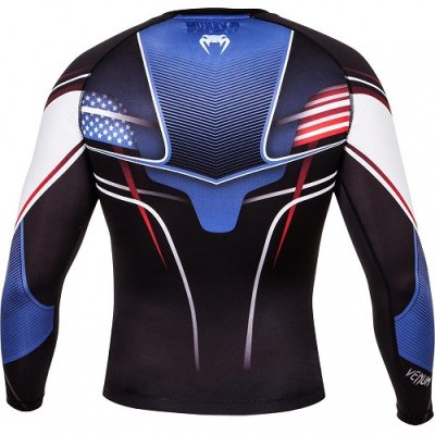 Photo4: VENUM Rashguard USA Hero Long Sleeve Black/Blue/Red