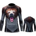 Jitsu Rashguard Bear Long sleeve Black