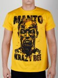 MANTO T-shirt MANTO×KRAZY BEE Yellow