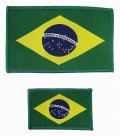 BULLTERRIER Embroidery Patch Brazil Flag 2pcs set