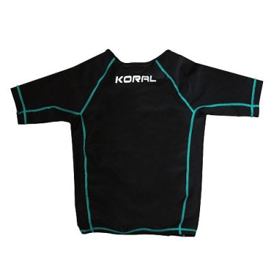 Photo2: KORAL Ladies Rashguard IMPACT short sleeve black / green