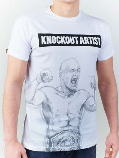 Photo1: MANTO T-shirt KNOCKOUT White
