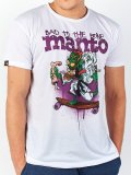 MANTO T-Shirt BAD TO THE BONE White