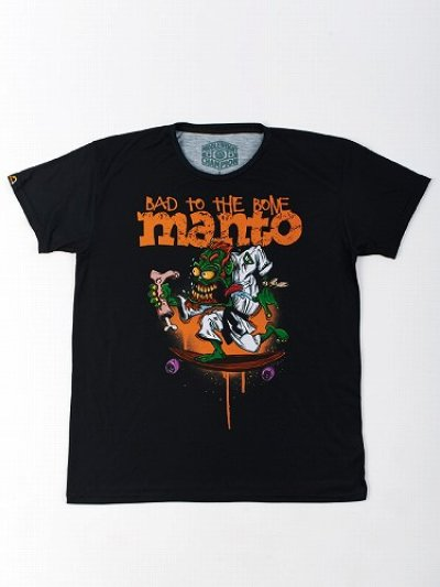 Photo3: MANTO T-Shirt BAD TO THE BONE Black