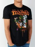 MANTO T-Shirt BAD TO THE BONE Black