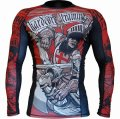 HCT Rashguard KNIGHT CRUSH Long Sleeve Black/Red