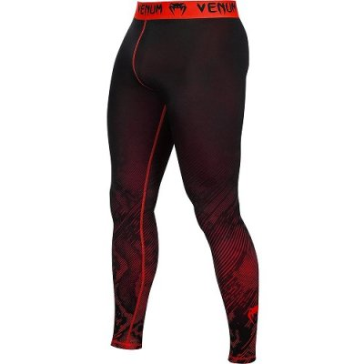 Photo1: VENUM Compression Long Spats  FUSION Black/Red