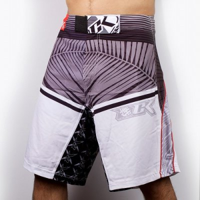 Photo1: Contract Killer Combat Shorts PALMS White/Red