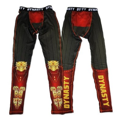 Photo1: DYNASTY Long Spats MONKEY KING Red/Black