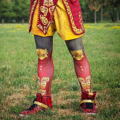 Photo3: DYNASTY Long Spats MONKEY KING Red/Black