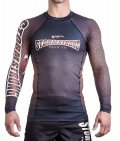 STORM STRONG Rash Guard RANK long sleeve Black/Brown