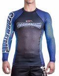 STORM STRONG Rash Guard RANK long sleeve Black/Blue