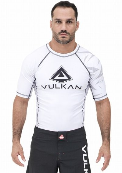 Photo1: VULKAN Rashguard CHALLENGE Short Sleeve White
