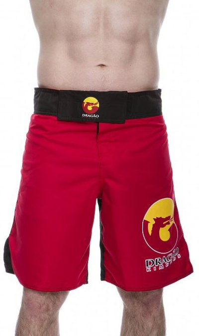 Photo2: DRAGAO Fight Shorts  LOGOS Red