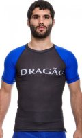 DRAGAO Rash Guard MAORI Short Sleeve Black/Blue