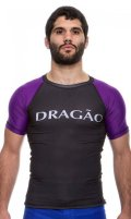 DRAGAO Rash Guard MAORI Short Sleeve Black/Purple