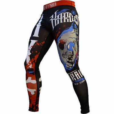 Photo1: HCT Long Spats ANATOMY OF A FIGHTER Black