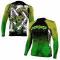 Newaza Apparel Rash Guard Anaconda Long Sleeve Black/Green