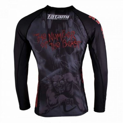Photo3: Tatami Rashguard Tatami x Iron Maiden Number of the Beast Long Sleeve