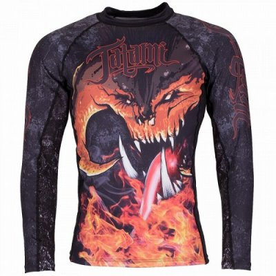 Photo1: Tatami Rashguard Long Sleeve BALROG Black